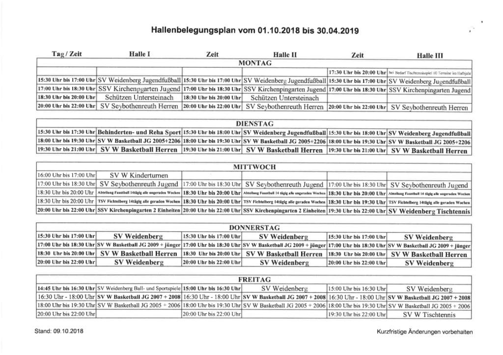 Hallenbelegungsplan 18-19